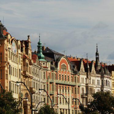 Prag Häuserfront Jugendstil
